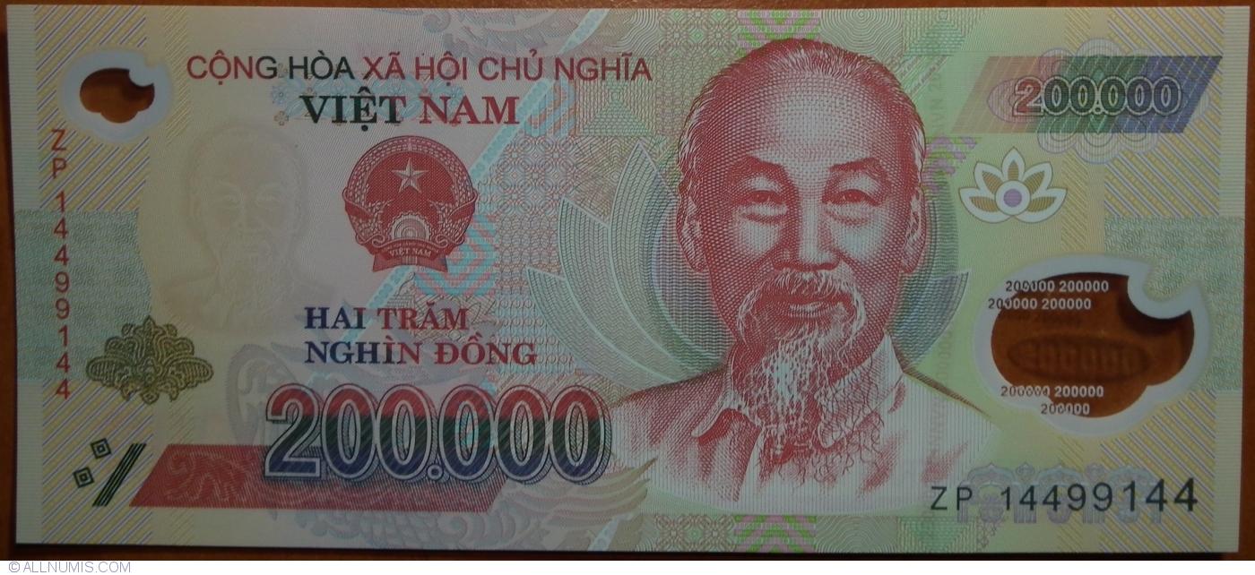 VIET NAM 200.000 Dong 2014 Polymer Pick 123g UNC