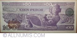 Image #2 of 100 Pesos 1981 (3. IX) - Serie TL