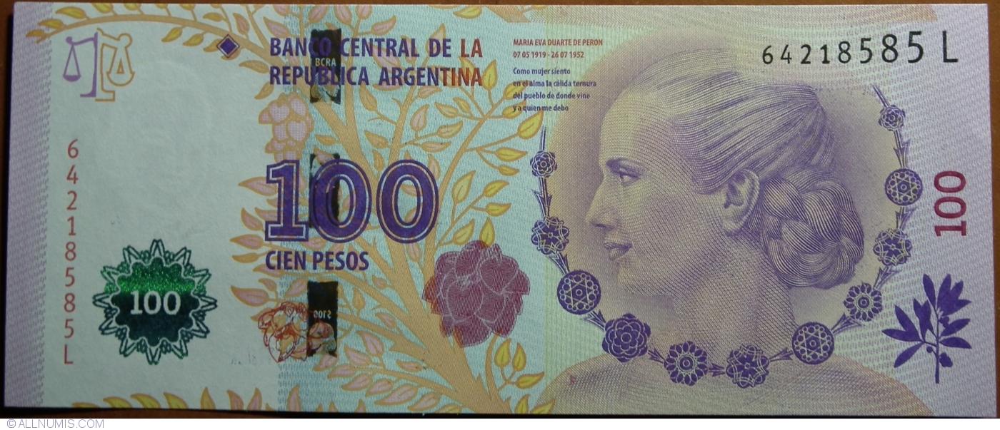 Argentina 100 Pesos p-358b 2016 Series Z UNC Banknote
