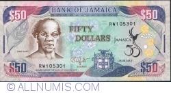 Imaginea #1 a 50 Dollars 2012 (6. VIII.) - A 50-a aniversare a proclamării Independenței Statului Jamaica