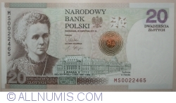 Image #1 of 20 Zlotych 2011 - 100 Anniversary of Marie Skłodowska-Curie's the Nobel Prize for Chemistry