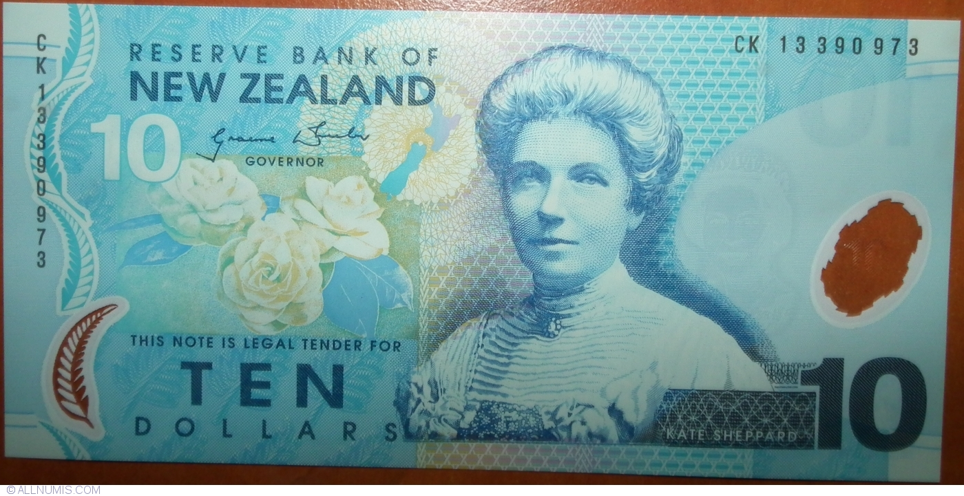 New Zealand 10 Dollars Katherine Sheppard//Ducks//p186b UNC 2013