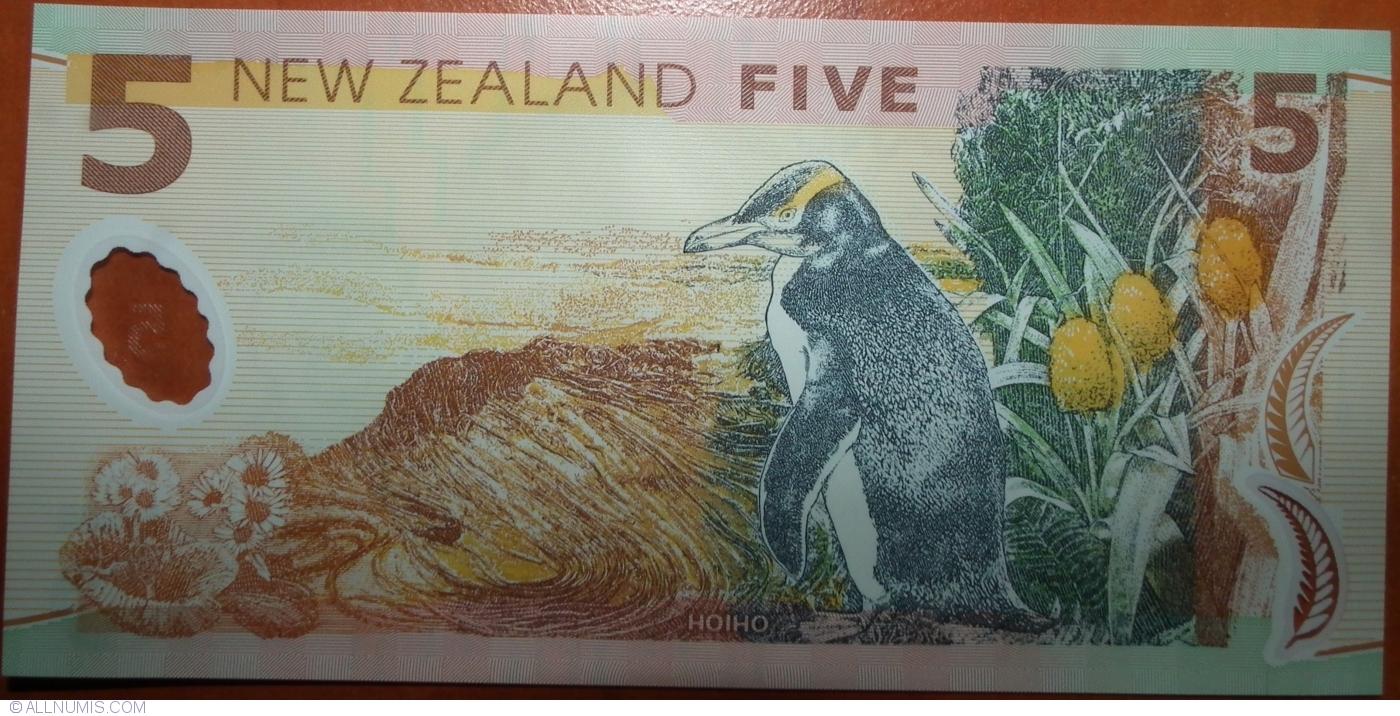 NEW ZEALAND 5 DOLLARS 2014 P 185 POLYMER UNC