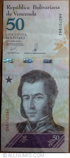 Imaginea #1 a 50 Bolivares 2018 (15. I.)