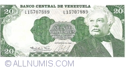 Imaginea #1 a 20 Bolivares 1984 (25. IX.)