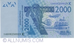Image #1 of 2000 Francs 2003/(20)14