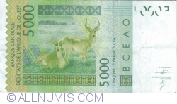 Image #2 of 5000 Francs 2002/2013