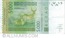 Imaginea #2 a 5000 Francs 2002/2013