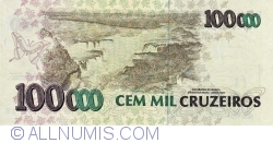 Imaginea #2 a 100 000 Cruzeiros ND (1992) - semnături Marcílio Marques Moreira / Francisco Roberto André Gros