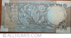 Imaginea #2 a 10 Rupees ND(1970-1990) - C - Semnătură R. N. Malhotra