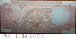 Imaginea #2 a 20 Rupees ND(1970-2002) - B - Semnătură R. N. Malhotra
