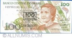 Image #1 of 100 Cruzeiros On 100 Cruzados Novos ND (1990)