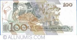 Image #2 of 100 Cruzeiros On 100 Cruzados Novos ND (1990)