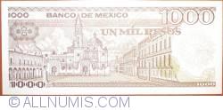 Image #2 of 1000 Pesos 1985 (19. VII.) - Serie YN