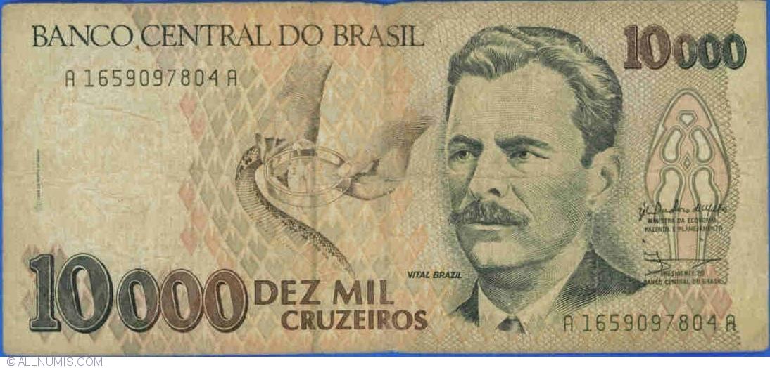 10,000 Cruzeiros ND (1991) - signatures Zélia Maria Cardoso de Mello
