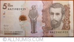Imaginea #1 a 5000 Pesos 2015 (19. VIII.)
