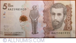 Image #1 of 5000 Pesos 2015 (19. VIII.)