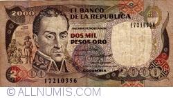 Image #1 of 2000 Pesos Oro 1988 (17. XII.)