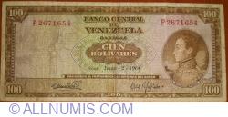 100 Bolivares 1964 (2. VI.)