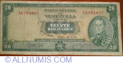 20 Bolivares 1974 (29. I.)