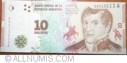 Imaginea #1 a 10 Pesos ND (2016) - semnături Alejandro Vanoli / Julián Andrés Domínguez