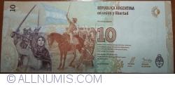 Imaginea #2 a 10 Pesos ND (2016) - semnături Alejandro Vanoli / Julián Andrés Domínguez