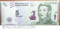 Imaginea #1 a 5 Pesos ND (2015) - semnături Alejandro Vanoli / Amado Boudou