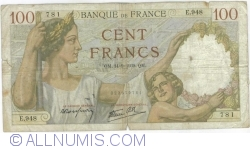 Image #1 of 100 Francs 1939 (14. IX.)