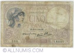 Image #1 of 5 Francs 1939 (28. IX.)