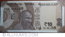 Image #1 of 10 Rupees 2017 - L