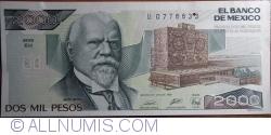 Image #1 of 2000 Pesos 1989 (28. III.) - Serie EH