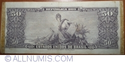 Image #2 of 5 Centavos ND(1966-1967) (overprint on 50 Cruzeiros ND(1963) - P#179)