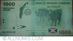 Image #2 of 1000 Francs 2015 (15. I.)