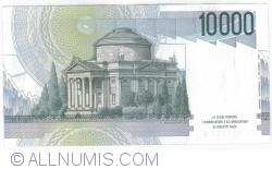 Image #2 of 10000 Lire 1984 (3. IX.) - Signatures Carlo Azeglio Ciampi/ Vittorio Stevani