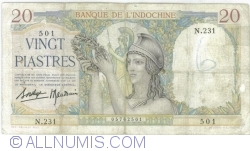 Image #2 of 20 Piastres ND(1936-1939)