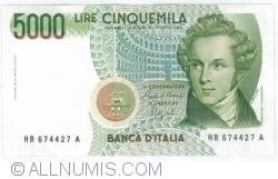 Image #1 of 5000 Lire 1985 (4. I.) - Signatures Carlo Azeglio Ciampi/ Fortunato Speziali