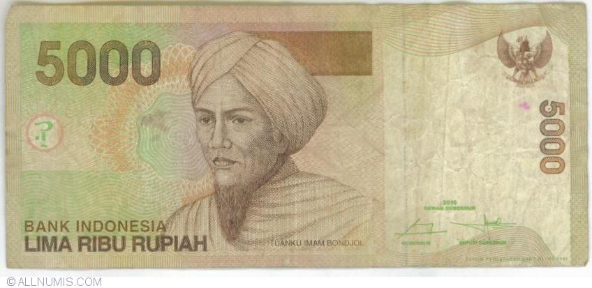 INDONESIA 5000 RUPIAH 2001//2009 P142h UNCIRCULATED