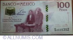 Image #1 of 100 Pesos 2016 (25. I.)