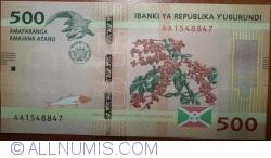 Image #1 of 500 Francs 2015 (15. I.)