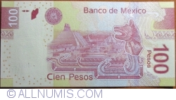 Image #2 of 100 Pesos 2012 (19. XII.) - serie AA