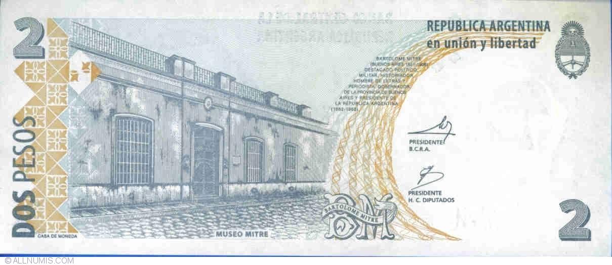 Gem UNC Argentina P-352 2010 2 Pesos Series K