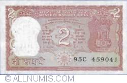 Imaginea #1 a 2 Rupees ND - Semnătură R. N. Malhotra (1985-1990)