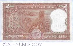 Imaginea #2 a 2 Rupees ND - Semnătură R. N. Malhotra (1985-1990)