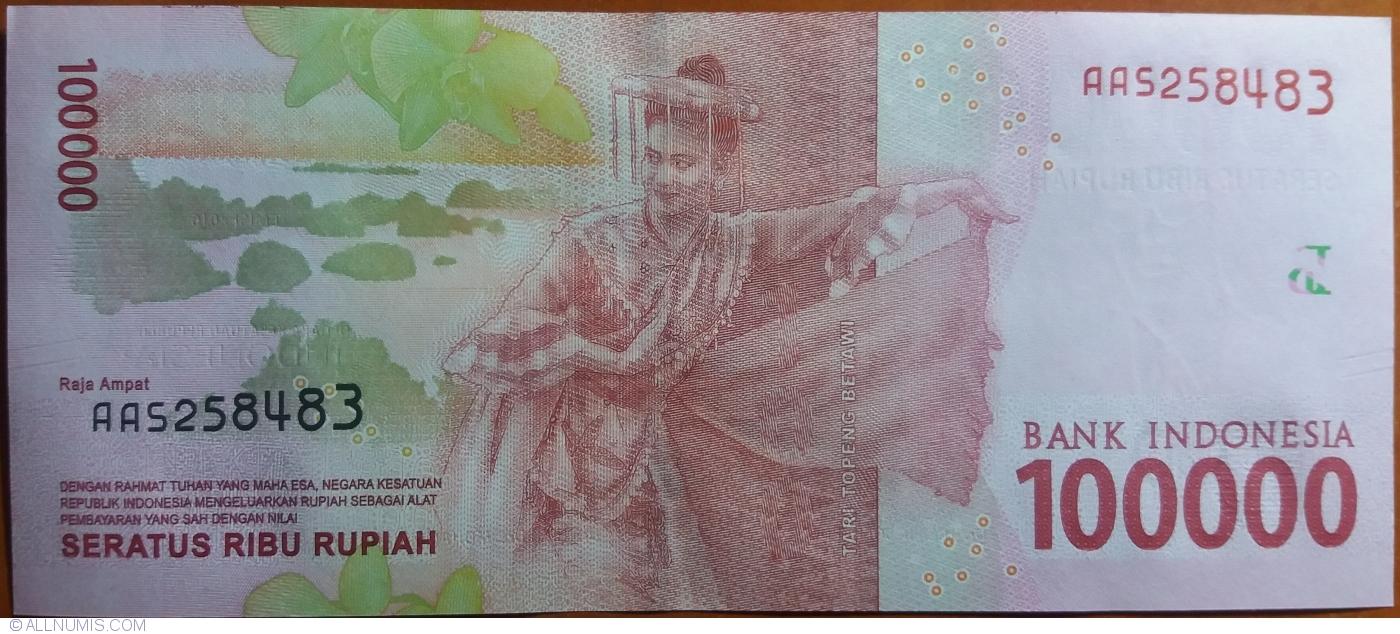 2017 100,000 UNC Banknote Indonesia 100000 Rupiah p-160b 2016