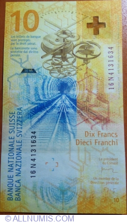 10 Franken (20)16 (2017)