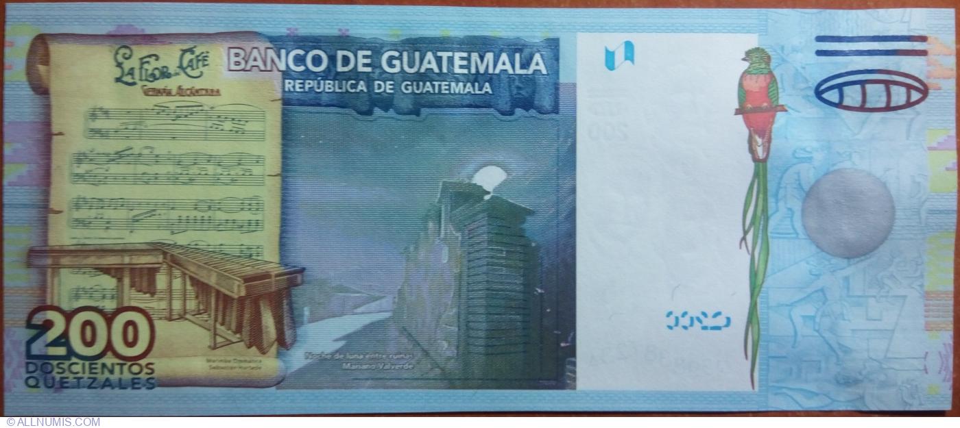 Guatemala 200 Quetzales p-120 2009 UNC Banknote