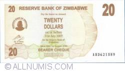 Imaginea #1 a 20 Dolari 2006 (1. VIII.)