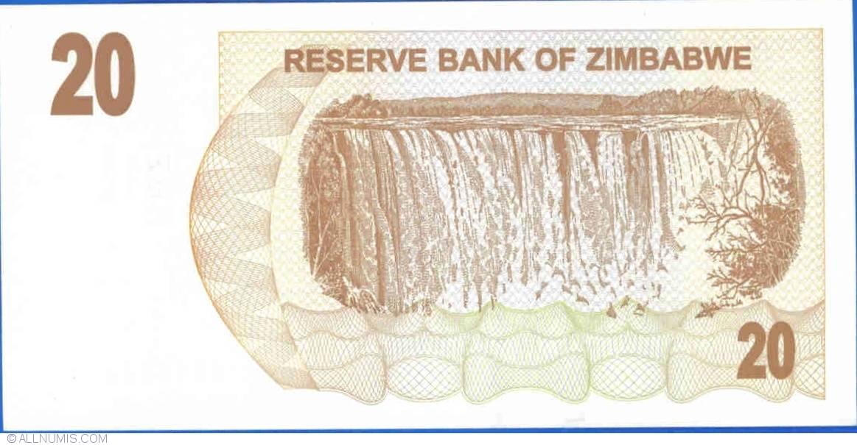 2006 UNC P-40-41-42-43 20;50;100;500 dollars SET Zimbabwe
