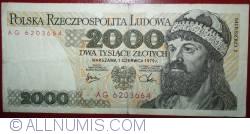 Image #1 of 2000 Zlotych 1979 (1. VI.)
