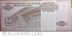 Imaginea #2 a 500 000 Kwanzas Reajustados1995 (1. V.)